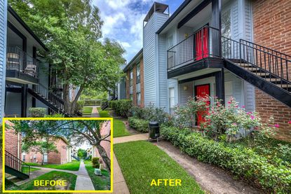This is an example of a typical exterior renovation completed by Western Wealth Capital at one of its multifamily communities.