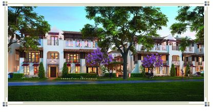 Rendering of the proposed 16 three-story townhome units, this view from Whipple Avenue.