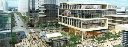 An artist's rendering of how buildings could look on UCF's downtown campus.