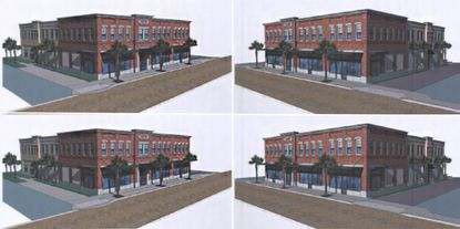 The proposed 15,800-square-foot building will feature retail facing Boyd Street and office uses on the first and second floor.