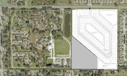The proposed subdivision features 118 lots. Features include two-car garages and a neighborhood walking trail.