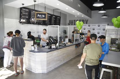 An interior photo of the newly opened Clean Juice bar at Winter Park Village.