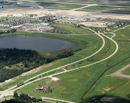 Orlando Sanford International Airport covers 3,000 acres.