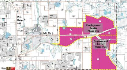 Wolf Branch has been identified by the Lake County Office of Elevate Lake as a strategic corridor to capture some of Central Florida's projected growth, with employment centers planned in two phases along State Road 46.