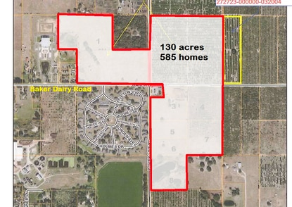 Cassidy Homes has assembled 130 acres at the intersection of Powerline and Baker Dairy roads in Haines City for a new 585-home subdivision.