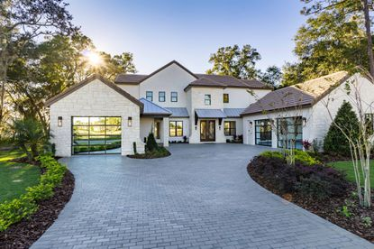 The front of a five-bed, six-bath, 5,000-square-foot model home at Sawyer Sound development in Windermere, priced at $1.75 million.