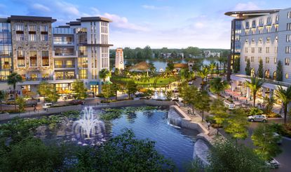 The developers said they needed up to 1,600 residential units in Phase 1 to support a future town center like the one pictured here.