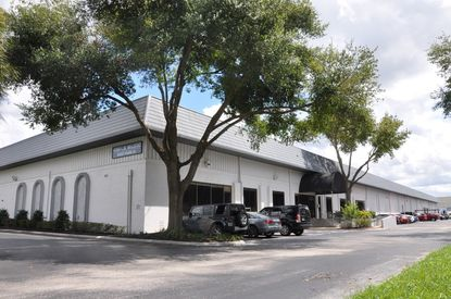 View of the multi-tenant warehouse building at 4542 LB McLeod Road in Orlando's 33rd Street Industrial Park, one of 11 buildings there recently acquired by KKR.