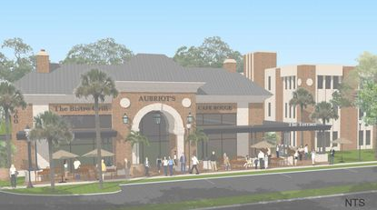 Rendering of the proposed new retail or restaurant building at 600 N. Maitland Ave.