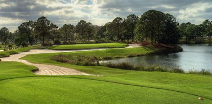 A photo of the 18-hole Hunter's Creek Golf Club.