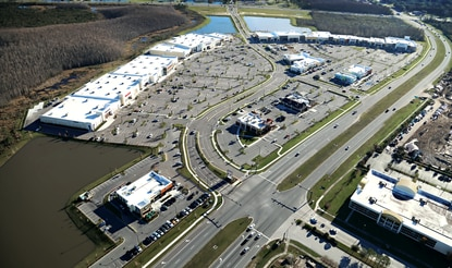The Crosslands Shopping Center in Kissimmee has 440,000 square feet of retail space.