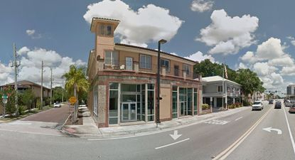 A view of the two-story office building at 2100 N. Orange Ave. in Ivanhoe Village that was acquired recently for $4.2 million. This view is looking northward.