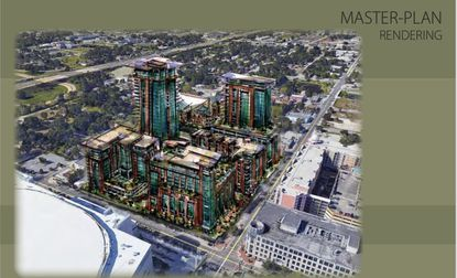 GreenTree Development will file plans next month with City of Orlando to redevelop nearly two city blocks next door to the Amway Center into a $300 million mixed-use entertainment district.