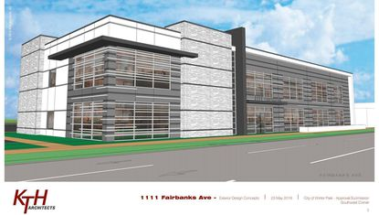 The newest rendering of the proposed medical office building at 1111 W. Fairbanks Ave.