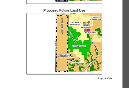 Osceola County is considering changing the future land use in the Four Corners area, including portions of ChampionsGate, from Mixed Use to Tourist Commercial. The 3,400-acre district is bordered by Polk County to the south and Funie Steed Road to the north.