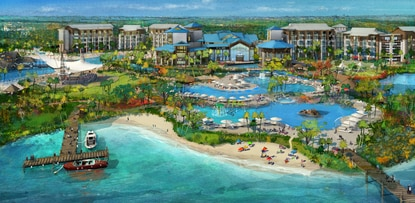 artist rendering of Margaritaville Resort