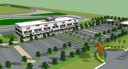 Orlando Motorsports Park submitted this rendering of the tourist attraction and retail center with its noise variance application.