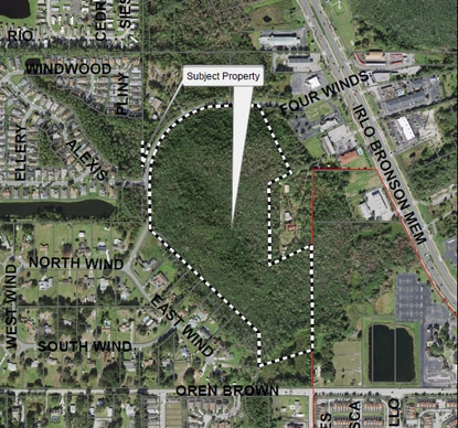 The Kissimmee City Commission denied an annexation request for this 36-acre site on Four Winds Boulevard. The owner wanted to build 312 townhomes and apartments on the site.