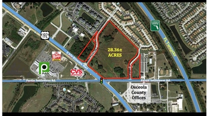 An Orlando real estate investment fund has this 28-acre site on E192 under contract and expects to close in June.