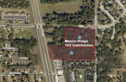The Mason Ridge project is located on U.S. 27 in Clermont. The developer cleared the property and built a retaining wall before stopping work in 2018.