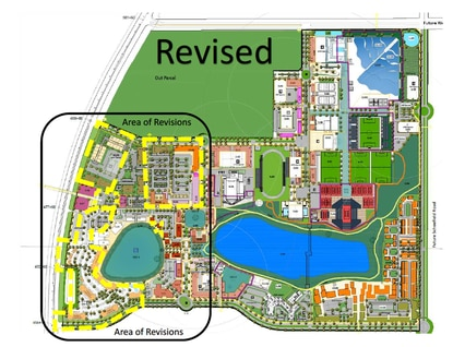 The developer of Clermont's Olympus sports and wellness-themed district wants to expand and relocate the medical office complex and shift the apartment complex to the southwest corner of the property.