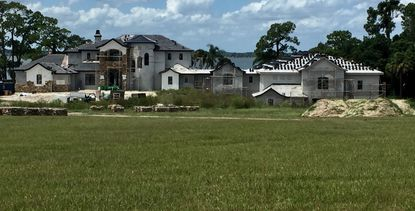 The 24,230-square-foot home under construction on Dora Drive in northwest Orange County, near Mount Dora.