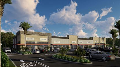 A rendering of the 14,000 square feet of retail being developed on the southeastern corner of Clarcona Ocoee Road and the future extension of Lakewood Avenue.