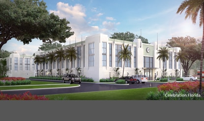 This self-storage facility by Nuvo Development was designed to meet the strict architectural guidelines in Celebration's Art Deco district.