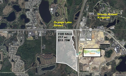 Osceola County's deal for a $20 million sports complex on W192 fell through when the proposed developer failed to close to the property. Now the 217-acre tract is back on the market.