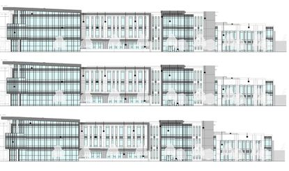 The proposed 136,200-square-foot medical college is planned to rise directly across the Orlando Health Horizon West hospital campus.