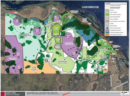 A golf resort developer has filed plans for a new 2,900-acre resort on the shore of Lake Kissimmee in Polk County. The resort would have three, uniquely different golf courses.