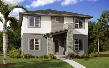 The Symphony model, shown here, is one of six new floorplans designed specifically by Cardel Homes for Lake Nona's Laureate Park.