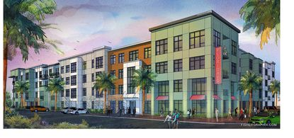 A rendering of the Northwood Ravin apartments being developed by Tampa-based partner Framework Group LLC, on land near Vineland Premium Outlets.
