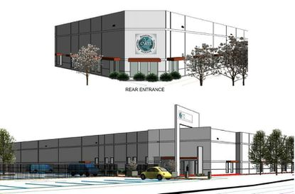 A rendering of the front of C4 ATS' new office and manufacturing facility to be built.