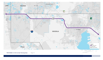 FDOT launches study on toll lanes for 23-mile U.S. 192 corridor