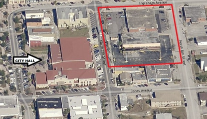 Local developer Feltrim Group is proposing a $12-15 million mixed-use development on the site outlined in red, next to Haines City's City Hall and Library.