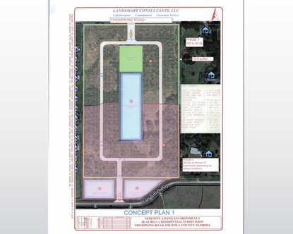 Osceola County has approved plans for 55+ subdivision Serenity Reserve on Thompkins Road.