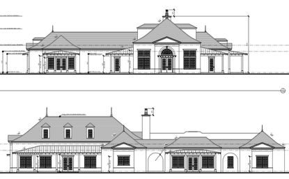 Early-stage exterior design of the new Avalon Park community center.