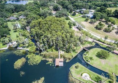 An aerial view of the lakefront lot in the 12000 block of Lake Butler Boulevard in Windermere that recently sold.