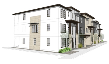 About 90 of the proposed 206 townhouses would be three stories, with one bedroom on the ground level and two more on the third level.