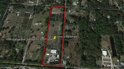 The rectangle bordered in red is slated to become a 26-home community in Sanford, built by Meritage Homes of Florida.