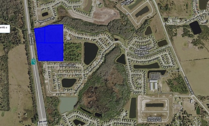 Real estate investor Ron Howse has applied for a permit for the final 91 lots of Deer Creek. The final phase would be built on a 28-acre parcel between Canoe Creek Road and the FL Turnpike, shown in blue.