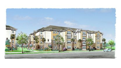 An artist's rendering of Marden Ridge Apartments, planned for Apopka.