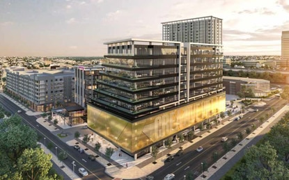 City staff and members of the Creative Village Design Review Committee said the design of the parking garage podium for the proposed office building does not meet city code.