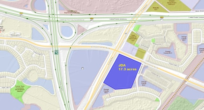 Johnson Development Associates is seeking to amend the Southchase DRI so it can build nearly 300,000 square feet of spec warehouse space at the corner of S. Orange Avenue and Town Center Boulevard.