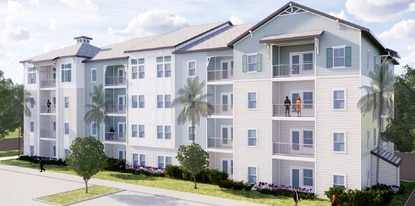 This is a rendering of the proposed apartments by Maifly Development at 6440 Narcoossee Road.