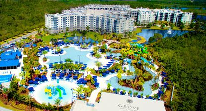 Renovations of the third condo-hotel tower at Grove Resort & Water Park are expected to be complete in summer 2019, the company said, with rapid marketing updates helping push sales.