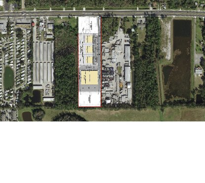 Hoffner Investment Group has filed plans to divide their 9-acre site into three lots, the largest of which would be the 50,000 square foot industrial building in lot 3.