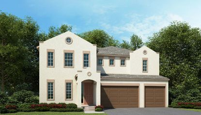 Avex Homes' Kingston model, one of its larger designs with 4,246 square feet that could be accommodated on 75-foot-wide lots in a new Apopka development.