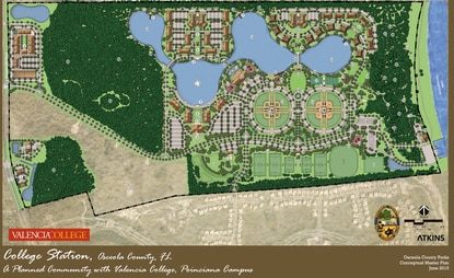 Conceptual plan of College Station includes a mix of higher education, residential, retail, office and recreational  uses.